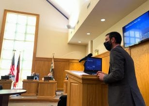 Dr. Gregory Feiden presenting to Dahlonega City Council